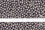 Japanese Fabric Kokka Tiny Floral - black - 50cm
