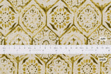 Japanese Fabric Kokka Painted Tiles - chartreuse - 50cm