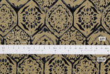 Japanese Fabric Kokka Painted Tiles - coffee - 50cm