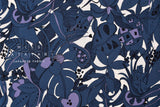Japanese Fabric Pop Fruit rayon linen - blue - 50cm