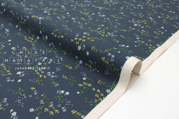Japanese Fabric Cotton + Steel Mori No Tomodachi - Field - dark blue - fat quarter