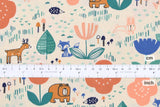 Japanese Fabric Cotton + Steel Mori No Tomodachi - Friends - apricot - fat quarter