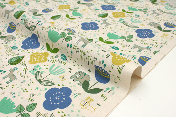 Japanese Fabric Cotton + Steel Mori No Tomodachi - Friends - lemon - fat quarter