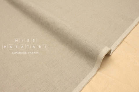 Japanese Fabric 100% brushed linen - natural -  50cm