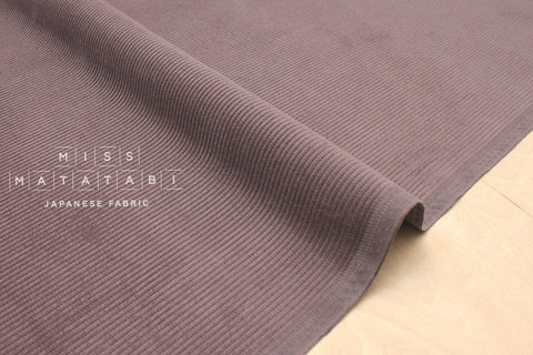 Japanese Fabric 8 Wale Corduroy - rose grey - 50cm