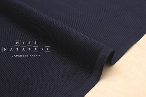 Japanese Fabric 8 Wale Corduroy - navy blue - 50cm