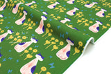 Japanese Fabric Cotton + Steel Once Upon A Time - Nya Nya - green - 50cm