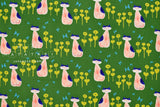 Japanese Fabric Cotton + Steel Once Upon A Time - Nya Nya - green - fat quarter