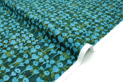 Japanese Fabric Cotton + Steel Once Upon A Time - Love Flower - blue - 50cm