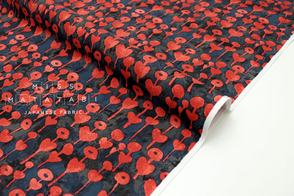 Japanese Fabric Cotton + Steel Once Upon A Time - Love Flower - red - fat quarter