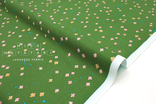 Japanese Fabric Cotton + Steel Once Upon A Time - Bouquet Burst - green - fat quarter