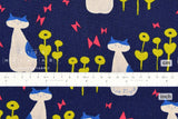Japanese Fabric Cotton + Steel Once Upon A Time Canvas - Nya Nya - blue - 50cm