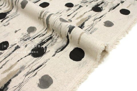 Japanese Fabric Cotton + Steel Once Upon A Time Canvas - Flower Rain - neutral - fat quarter