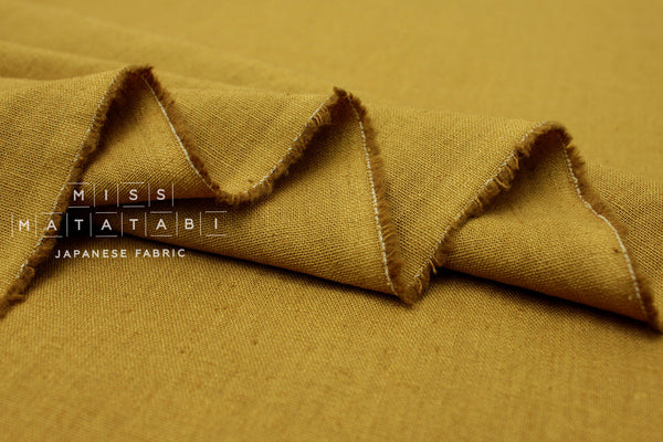 Japanese Fabric Kirisame canvas - mustard - 50cm