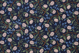 Cotton + Steel Wildwood - peonies navy - 50cm