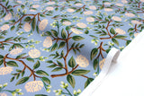 Cotton + Steel Wildwood - peonies dusty blue - fat quarter