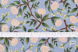 Cotton + Steel Wildwood - peonies dusty blue - 50cm