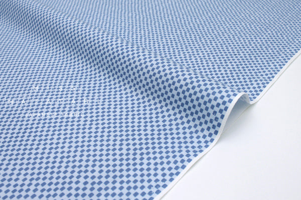 Cotton + Steel Wildwood - checkers blue - fat quarter