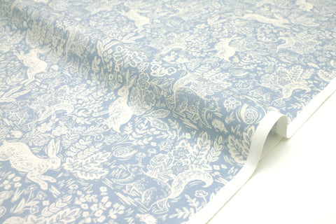 Cotton + Steel Wildwood - fable blue - fat quarter