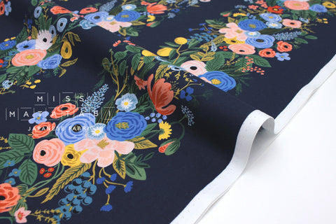 Cotton + Steel Wildwood - garden party vines navy - fat quarter