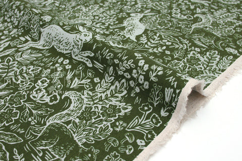 Cotton + Steel Wildwood canvas - fable leaf - fat quarter