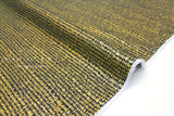 Cotton + Steel Wildwood lawn - hatch marks metallic gold, navy - 50cm