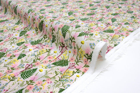 Cotton + Steel Wildwood lawn - wildflowers pale rose - 50cm