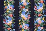 Cotton + Steel Wildwood rayon - garden party vines navy - 50cm