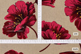 Japanese Fabric Mattina Di Vacanza Bold Flowers - red, natural - 50cm