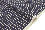 Japanese Fabric linen voile brushstrokes - navy blue -  50cm