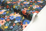 Cotton + Steel Wildwood - garden party navy laminated - fat quarter