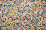 Cotton + Steel Wildwood canvas - garden party blue laminated - 50cm