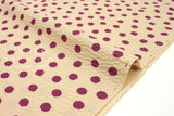 Japanese Fabric Cotton Seersucker Dots  - berry, milk tea - 50cm