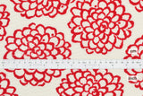 Japanese Fabric Cotton Seersucker Kiku Flowers - red - 50cm