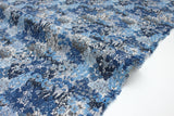 Japanese Fabric wonder forest lawn - blue - 50cm