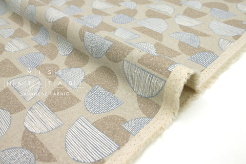 Japanese Fabric Kokka Trefle Mountains - beige, grey - fat quarter