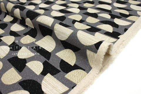 Japanese Fabric Kokka Trefle Mountains - black, grey - 50cm