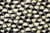 Japanese Fabric Kokka Trefle Mountains - black, grey - fat quarter