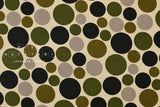 Japanese Fabric Polka Dots - green - 50cm