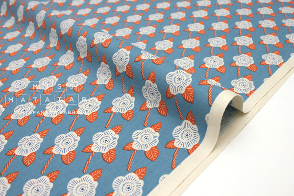 Japanese Fabric Cotton + Steel Kibori - Chico - blue - 50cm