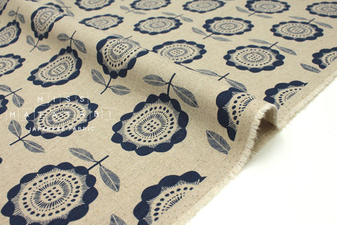 Cotton + Steel Kibori canvas - Peko - navy -  fat quarter