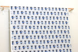 Japanese Fabric Putidepome Musical Cats - grey, blue - 50cm