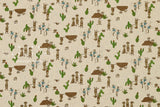 Japanese Fabric Kokka Meerkat - natural - 50cm