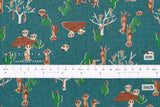 Japanese Fabric Kokka Meerkat - teal green - fat quarter