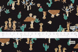 Japanese Fabric Kokka Meerkat - black - fat quarter