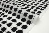 Japanese Fabric Fence Enshuku lawn - black, white - 50cm