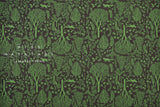 Japanese Fabric reversible double knit - Forest Friends - green, charcoal - 50cm