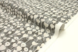 Japanese Fabric Cotton + Steel Once Upon A Time Newsprint - Love Flower - grey - fat quarter