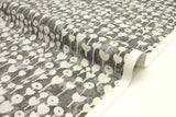 Japanese Fabric Cotton + Steel Once Upon A Time Newsprint - Love Flower - grey - 50cm