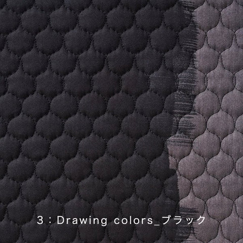 Nani Iro Kokka Japanese Fabric Drawing Colors Quilted - C - 50cm
